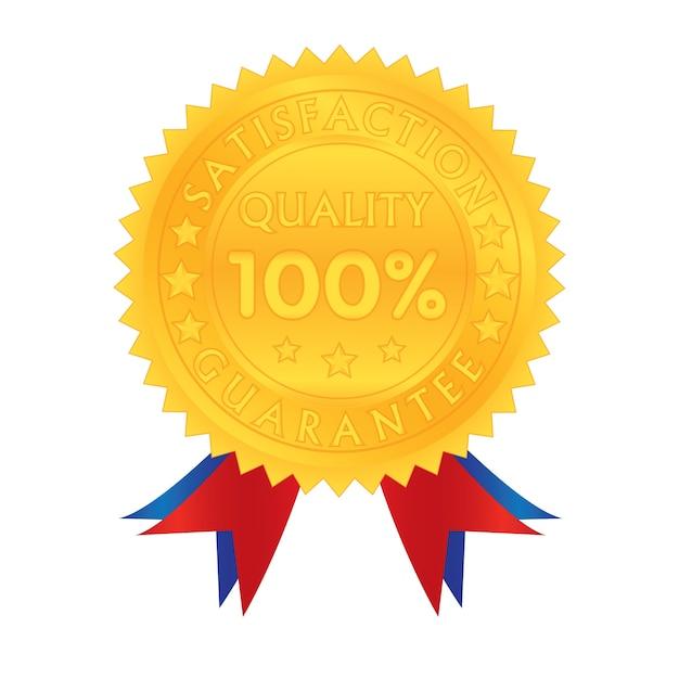 100 Procent Gwarancji Jakości Satysfakcji Premium Wektorów