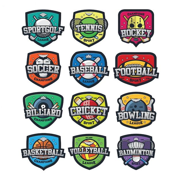 12 wektor logo sportu Premium Wektorów