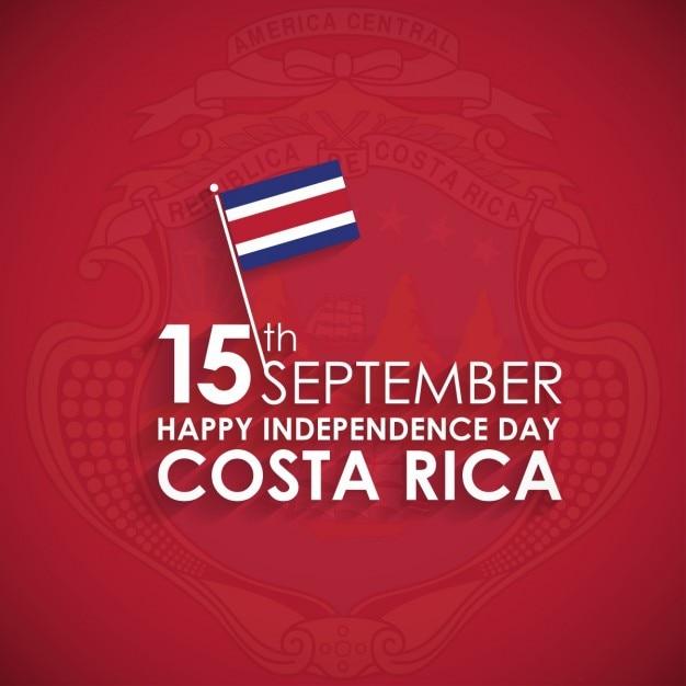 15 Września Szczęśliwy Dzień Niepodległości Kostaryka Darmowych Wektorów