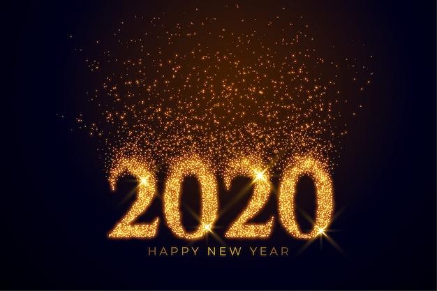 2020 Tekst Napisany Złotymi Iskierkami Darmowych Wektorów
