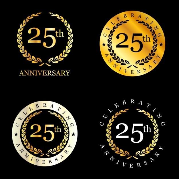 25 years obchody wieniec laurowy Darmowych Wektorów