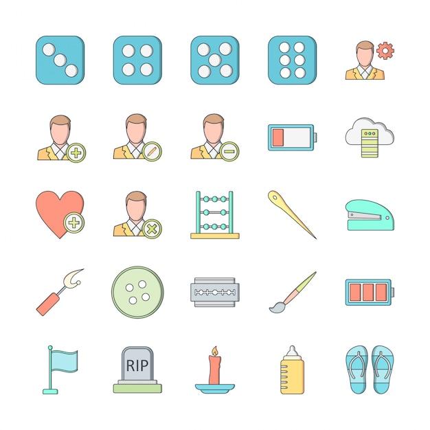 25 zestaw ikon uniwersalnego do użytku osobistego i komercyjnego ... Premium Wektorów