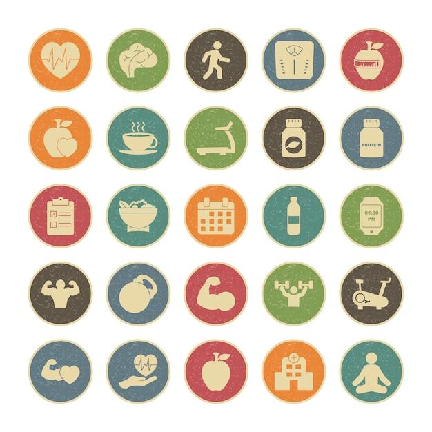 25 Zestaw Ikon Zdrowia Do Użytku Osobistego I Komercyjnego Premium Wektorów