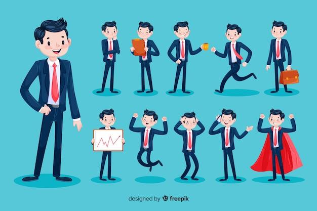 3d biznesmen charakter Darmowych Wektorów