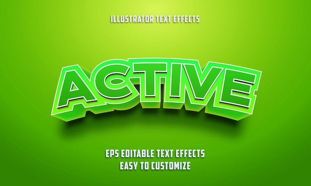 3d Edytowalny Styl Efektów Tekstowych Premium Wektorów