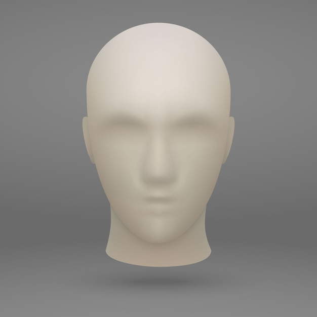 3d Głowa Manekina Premium Wektorów
