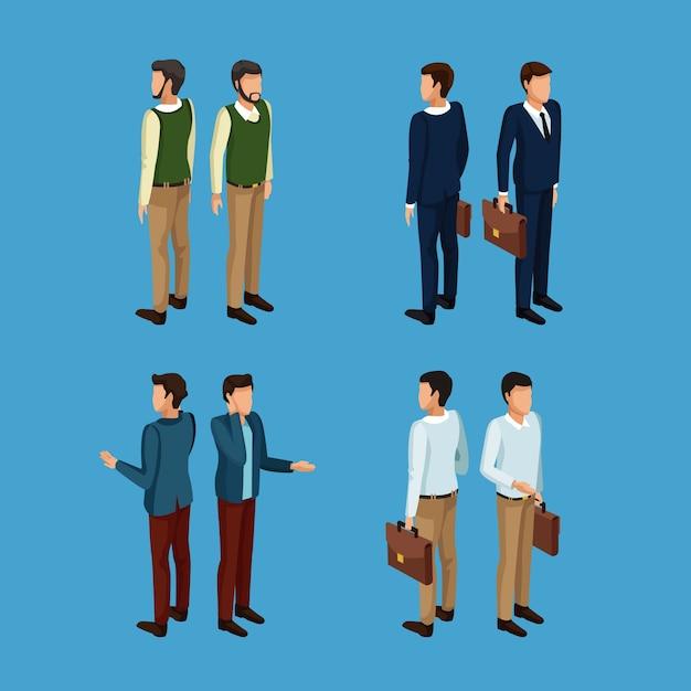 3d Ikony Biznesmena Premium Wektorów