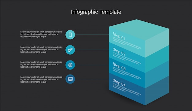 3d infographic elementy Premium Wektorów