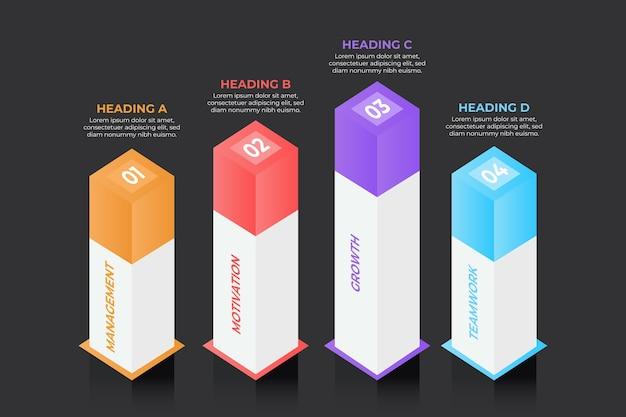 3d Infographic Koncepcja Bary Darmowych Wektorów