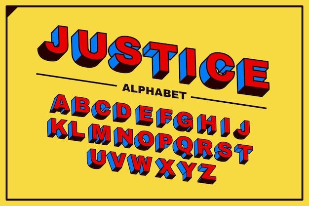 3d Komiks Alfabetyczny Projekt Darmowych Wektorów