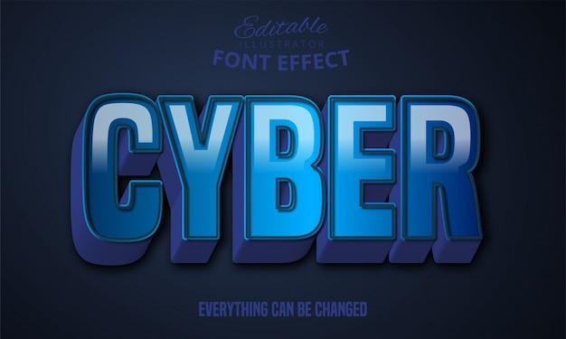 3d Mocny Pogrubiony Niebieski Efekt Tekstowy Premium Wektorów