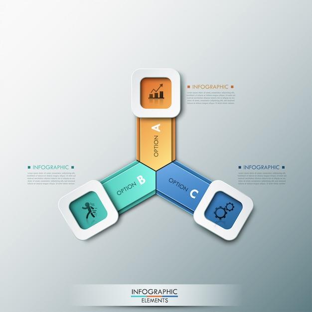 3d nowoczesne opcje infografiki transparent Premium Wektorów