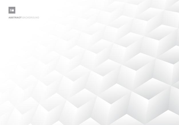 3d Sześcianów Realistyczny Deseniowy Biały Tło Premium Wektorów