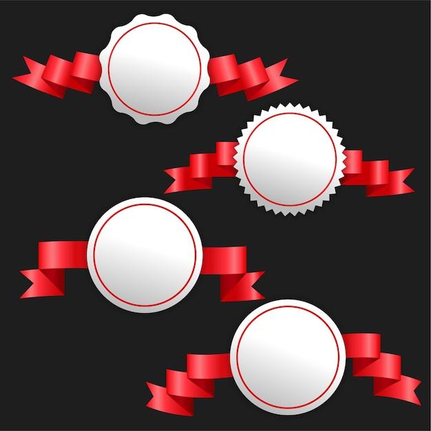3d Wstążki Czerwone Banery Z Miejsca Na Tekst Darmowych Wektorów
