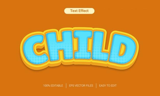 3d Zabawki Zabawy Dla Dzieci Tekst Styl Efekt Premium Wektorów