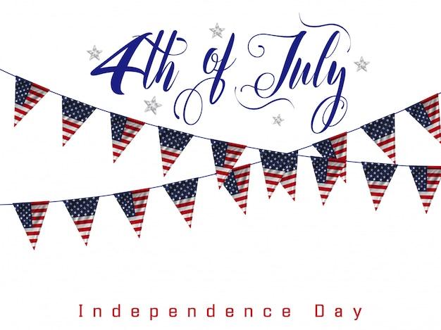 4 lipca, amerykański dzień niepodległości Premium Wektorów