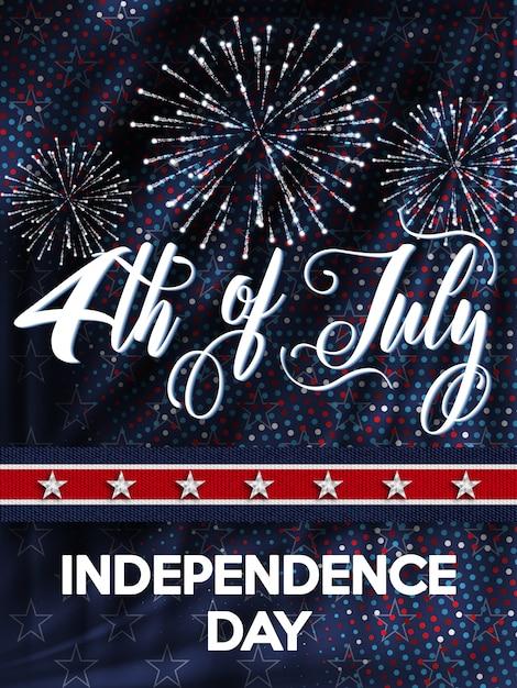4 lipca dzień niepodległości usa Premium Wektorów