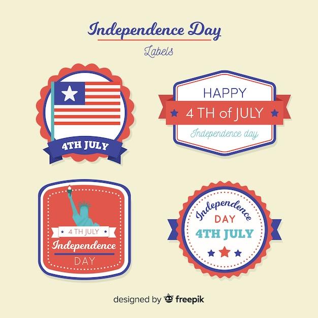 4 lipca kolekcja odznak Darmowych Wektorów