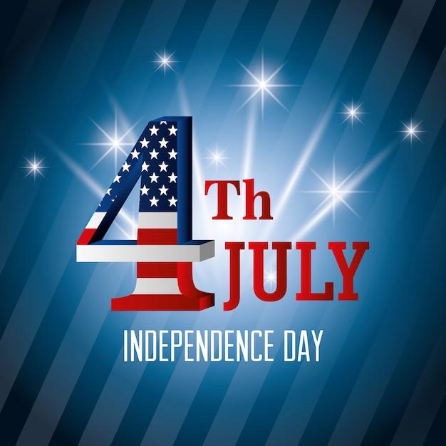 4 lipca święto niepodległości usa Darmowych Wektorów