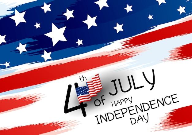 4 lipca szczęśliwy projekt dnia niepodległości Premium Wektorów