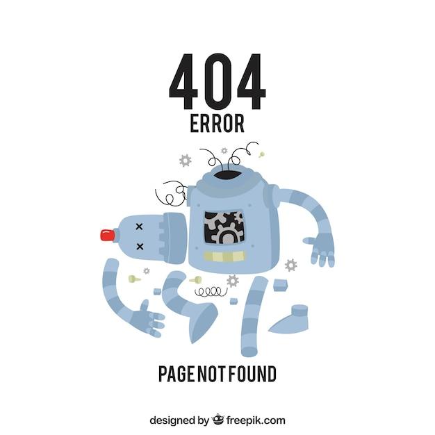 404 Projekt Błędu Ze Złamanym Robotem Darmowych Wektorów