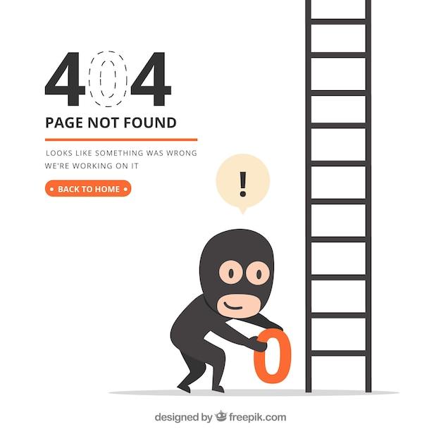 404 Szablon Błędu W Stylu Płaskiej Darmowych Wektorów