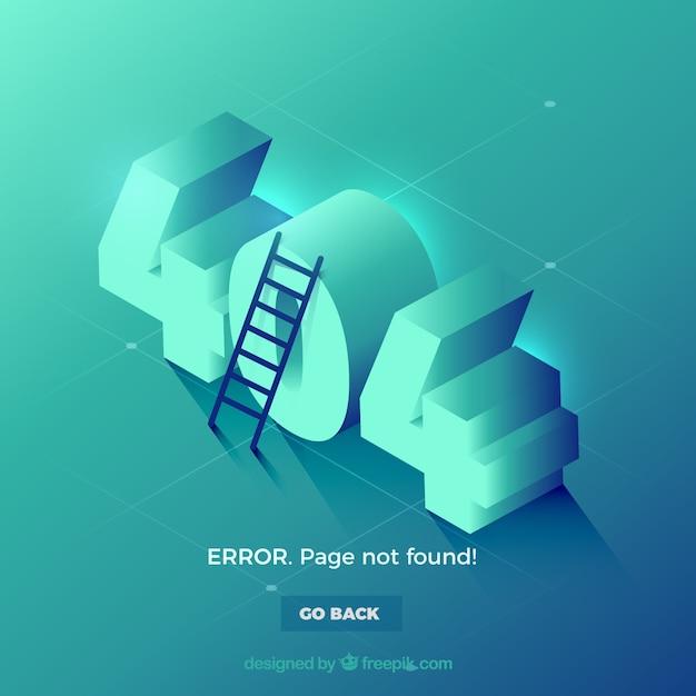 404 szablon www błędu w stylu izometrycznym Darmowych Wektorów