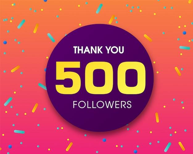 500 Obserwujących Dziękuję Premium Wektorów