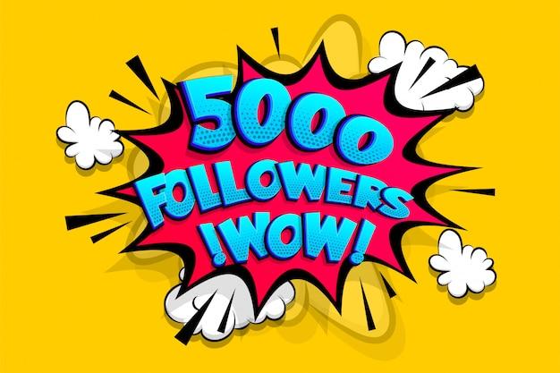 5000 Obserwujących Dziękuje Za Media Takie Jak Premium Wektorów