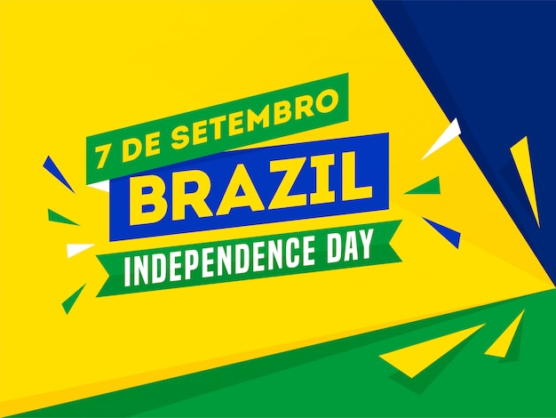 7 de setembro, brazylia, dzień niepodległości Premium Wektorów
