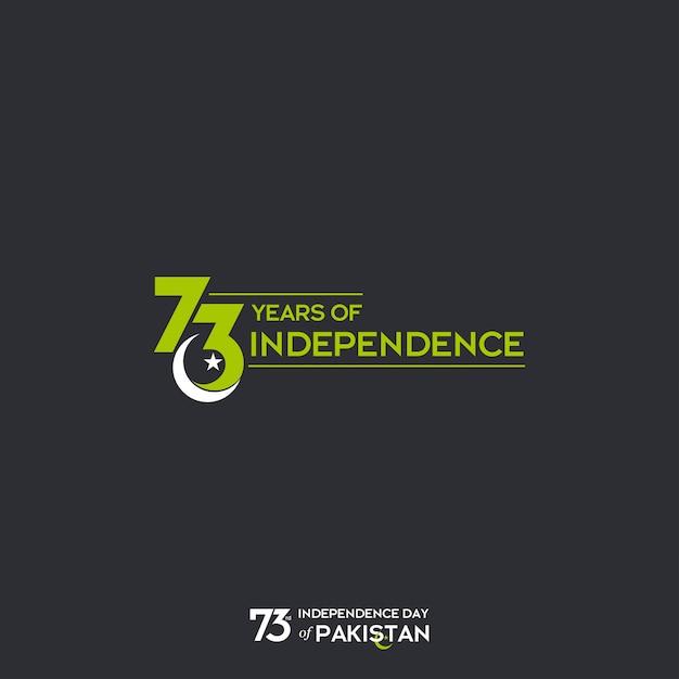 73. Dzień Niepodległości Pakistanu Premium Wektorów