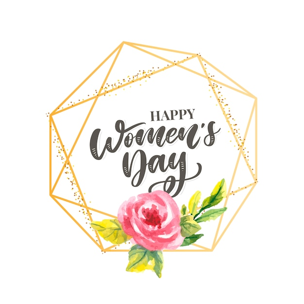 8 Marca. Karta Gratulacyjna Happy Woman's Day Premium Wektorów