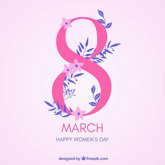 8 Marca Szczęśliwy Dzień Kobiet Darmowych Wektorów