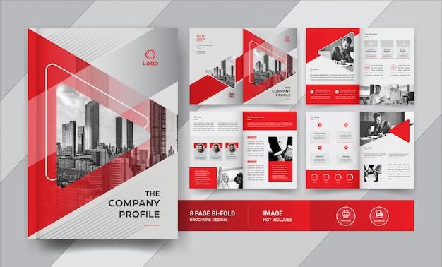 8-stronicowy Projekt Broszury Biznesowej Premium Wektorów