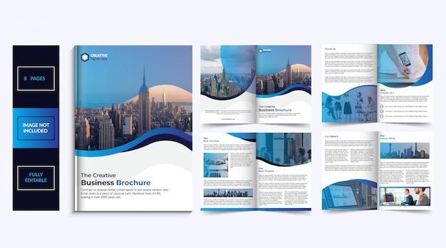 8-stronicowy Projekt Broszury Premium Wektorów