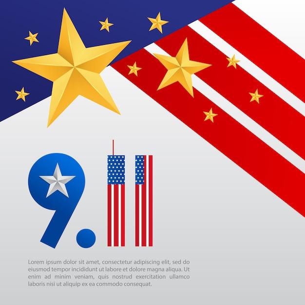911 Plakat Z Gwiazdą I Rangą Generała W Stanach Zjednoczonych Premium Wektorów