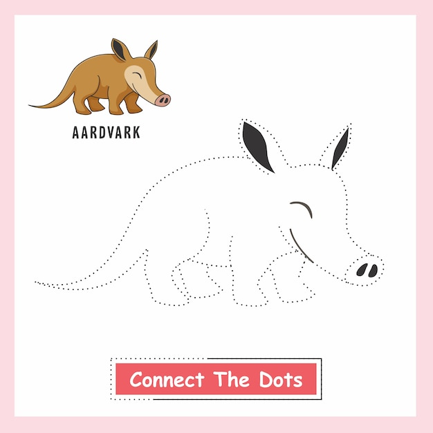 Aardvark Connect The Dots Premium Wektorów