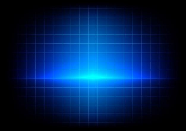 Absract Niebieskie Oświetlenie I Stół Na Niebieskim Tle Premium Wektorów