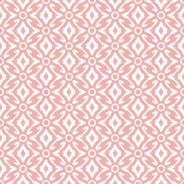 Abstrakcja adamaszku tapety różowy kolor Premium Wektorów