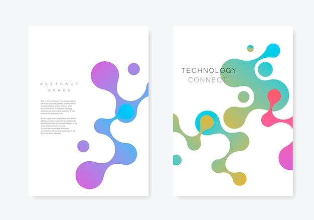 Abstrakcjonistyczna Broszurka Z Geometrycznym łączy Cząsteczkę Premium Wektorów