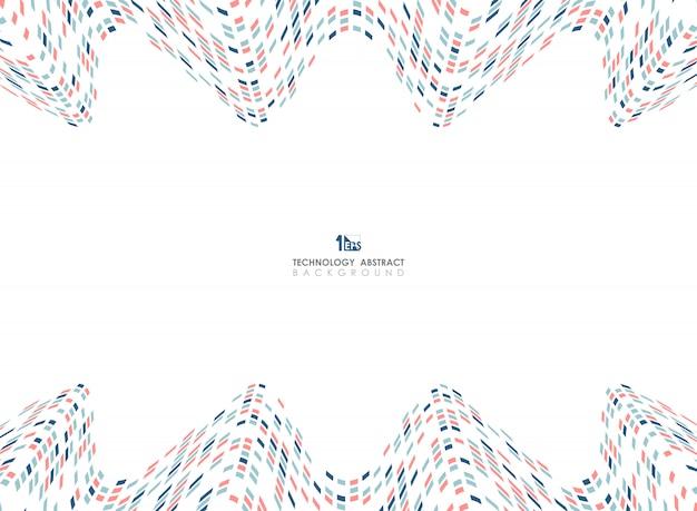 Abstrakcjonistyczna Geometryczna Kolor Siatka Falisty Projekta Tło Premium Wektorów