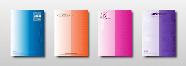 Abstrakcjonistyczna geometryczna tekstura z kolorową gradientową kolekcją Premium Wektorów