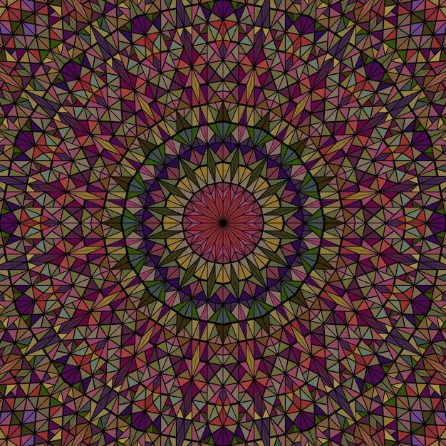 Abstrakcjonistyczna Kolorowa Dynamiczna Round Kafelkowa Mozaika Premium Wektorów