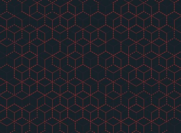 Abstrakcjonistyczna koloru sześciokąta technologia nowożytny tło. Premium Wektorów