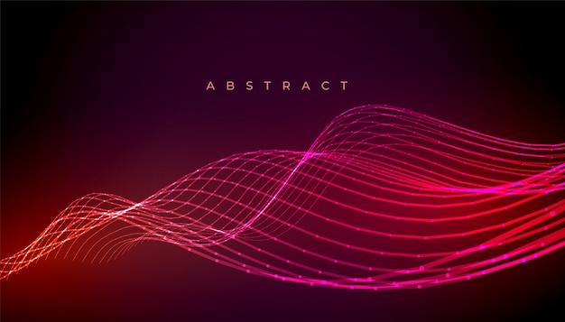 Abstrakcjonistyczna Neonowa Elegancka Fala Wykłada Tło Projekt Darmowych Wektorów