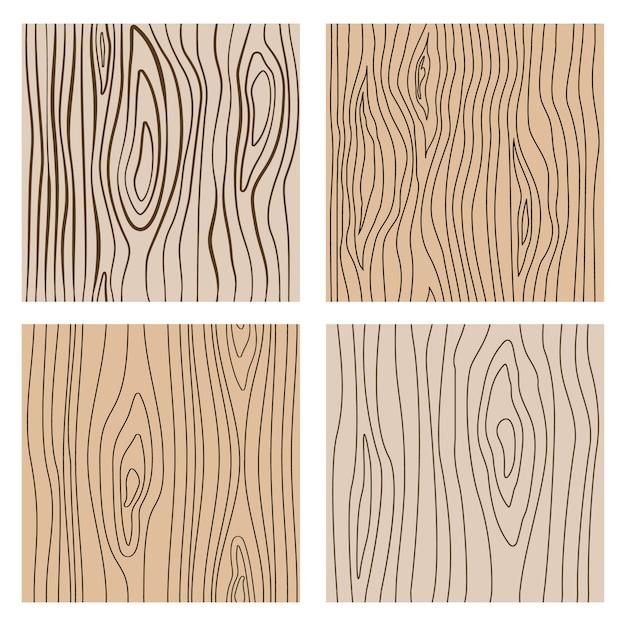 Abstrakcjonistyczne Drewno Linii Bezszwowe Tekstury. Powtarzająca Się Drewniana Dekoracja Premium Wektorów