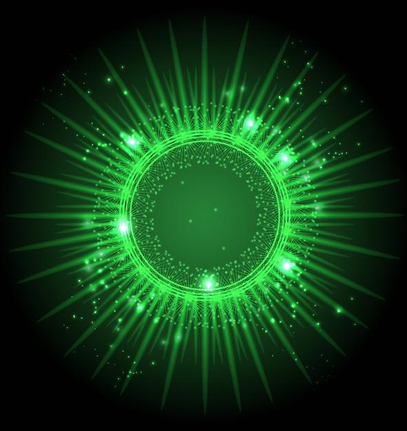 Abstrakcjonistyczne gwiazdy na ciemnego nieba przestrzeni dziury portalu tle Premium Wektorów