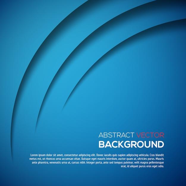 Abstrakcjonistycznego 3d Tła Błękitny Kolor Premium Wektorów