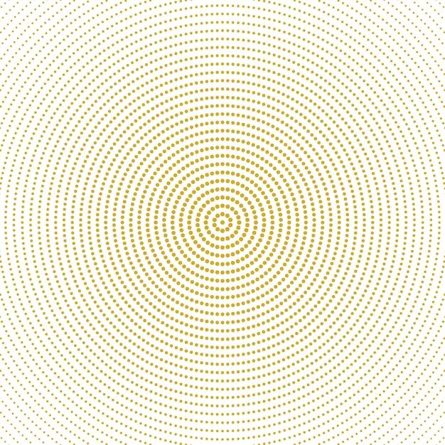 Abstrakcjonistycznego halftone monochromatyczny round okręgu wzoru tło Premium Wektorów