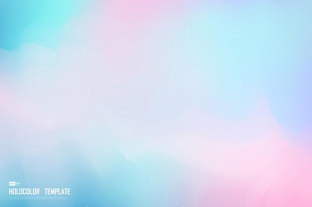 Abstrakcjonistycznego Holograma Kolorowy Szablon Dekoraci Tło. Premium Wektorów